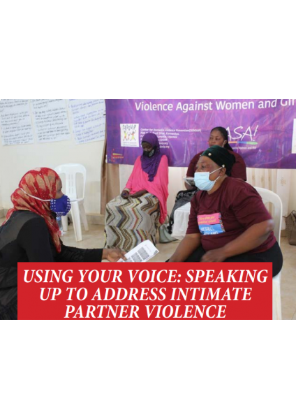 Using Your Voice - Speaking up to address Intimate Partner Violence
