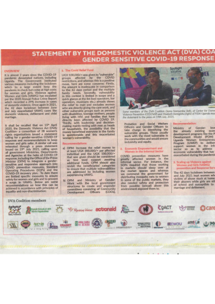 DVA Coalition in the Newspapers