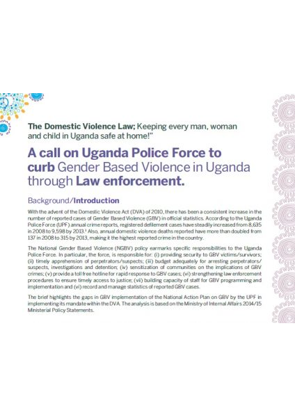 Ensuring Law Enforcement to curb Gender Based Violence
