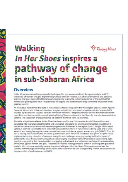 Learning Paper 3. In Her Shoes - Raising Voices