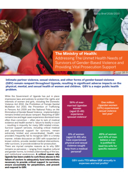 Ministry of Health Sector Policy Brief