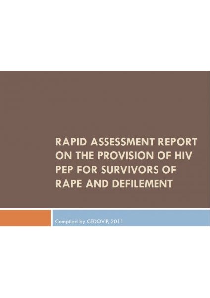 Survey Findings About PEP Services for GBV Survivors